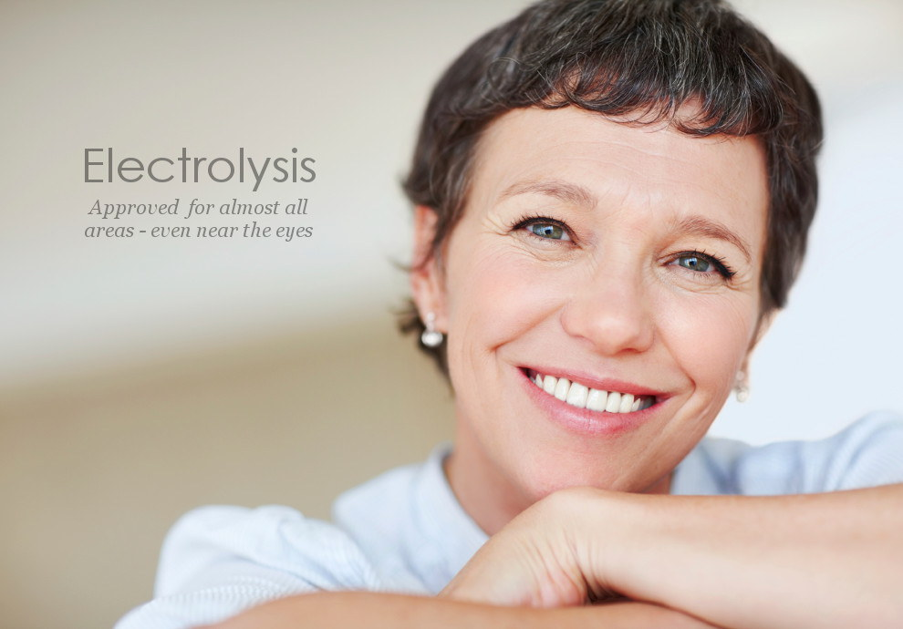 Electrolysis is approved permanent hair removal for almost all areas even near the eyes